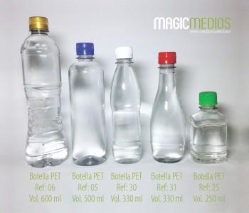 Botellas de Agua Publicitarios tamaños