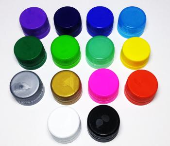 Tapas colores botellas de agua personalizadas
